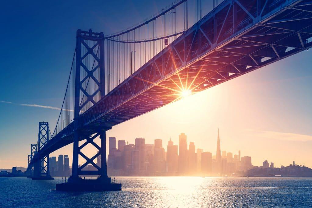 San Francisco Skyline Retro View America