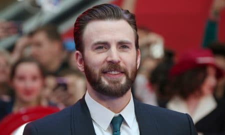 Chris Evans Attends European Film Premiere
