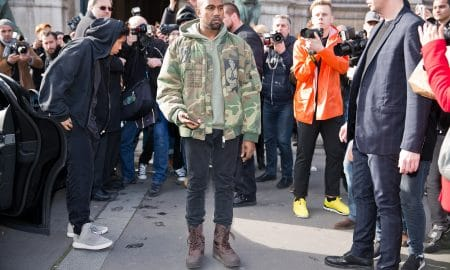 Parismarch 4 2015 Kanye West Posing