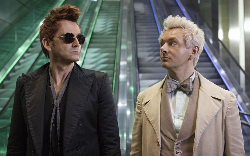 Good Omens starring David Tennant as the demon Crowley and Michael Sheen as the angel Aziraphale.